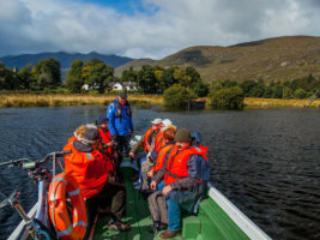 Leaving Lord Brandons by boat